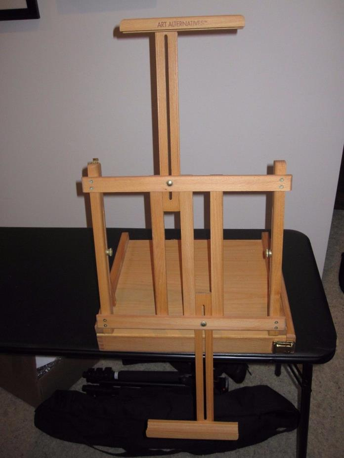 Art Alternatives Ravenna Table top Portable Folding Wooden Art easel