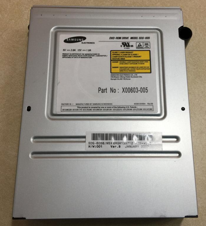 Toshiba Samsung DVD Rom Drive (SDG-605) for Original XBox (Replacement Part)