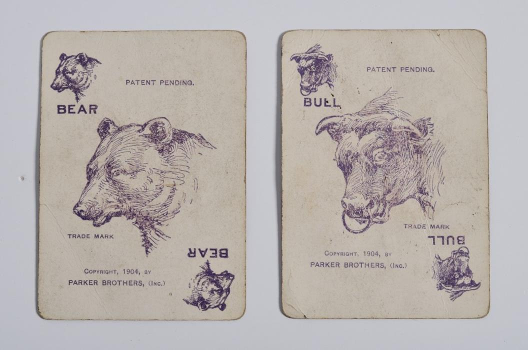 Antique 1919 Game PIT, Bear & Bull edition, Parker Brothers, Salem Massachusetts