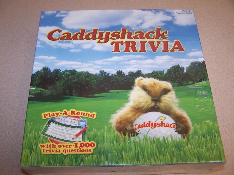 CADDYSHACK TRIVIA  GAME~ NEW ORIGINAL FACTORY WRAP ~~ W/OVER 1000 QUESTIONS