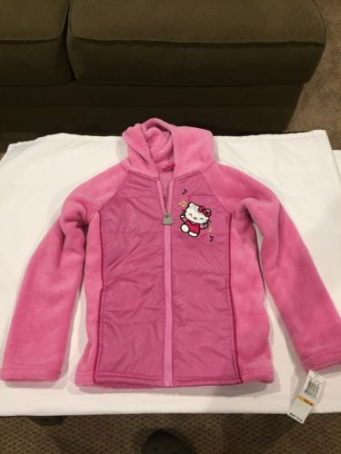 NWT!  Hello Kitty Girls 6X Pink Jacket  Hoodie Retail $70