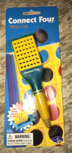 NEW CONNECT FOUR GAME PEN BY STYLUS LICENSED BY HASBRO 2002 NIB