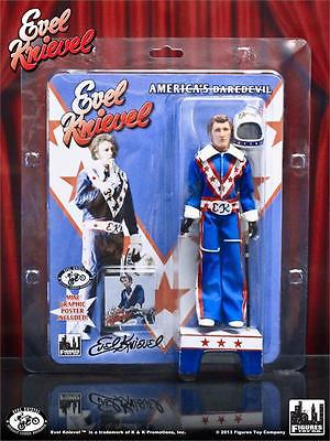 Figures Toy Co. Blue Suit Evel Knievel 8in. Action Figure