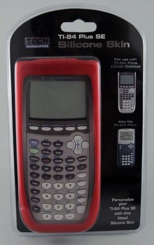 Texas Instruments Silicone Calculator Skin Protector for TI-84 Plus & SE Red New