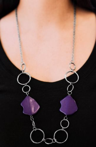 paparazzi jewelry Necklace Purple Includes Matching Earrings