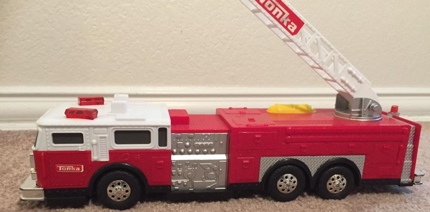 Tonka Fire Engine Truck Electronic Toy 2009 Hasbro #05983 Working