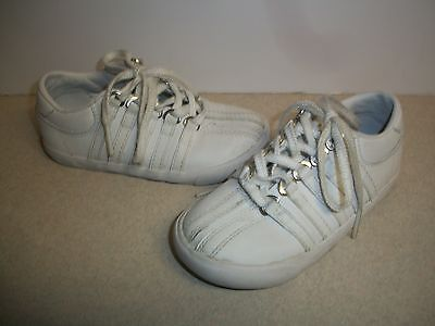 Children's K-Swiss White Sneakers Size 8 EU 25