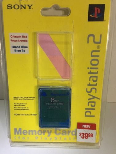 Sony Playstation 2 Memory Card 8MB. Island Blue.