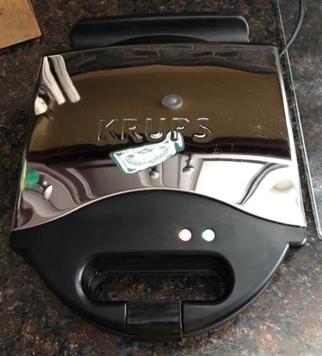 Krups Type 654 Waffle Maker ~ 4 Slice Belgian Waffle Maker Excellent Condition