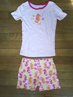 The Children's Place pink seahorse pajama short sleeve set pj jammies size 6