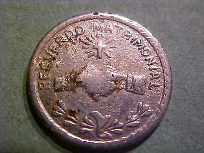MEXICAN MATRIMONIAL TOKEN REVERSE 25 CS 1955 20 MM STEEL