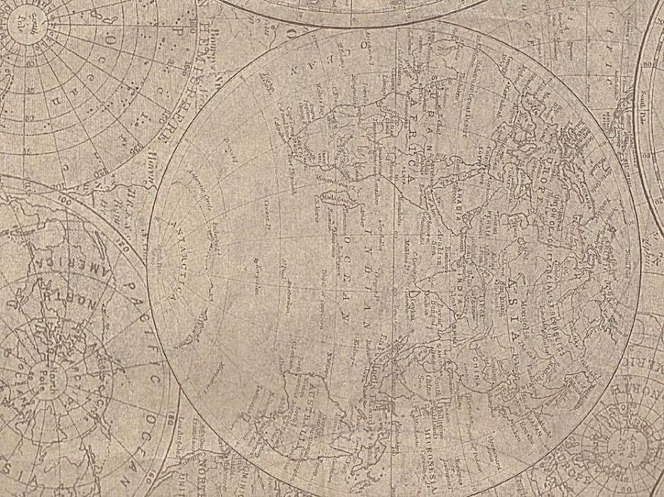 Historical World Maps / Globes Tissue Paper  # 585 --- 10 Lg Sheets