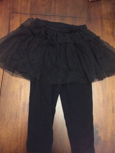Toddler Girls Black Legging with Tutu Skirt