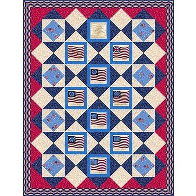 LONG MAY SHE WAVE QUILT KIT - Patriotic
