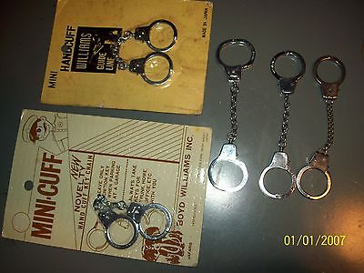 Miniature Boyd Williams small Handcuffs toy restraint lot some still in wrap etc