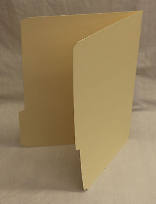 LOT OF 10 MANILLA 1/3 CUT LETTER SIZE LEFT TAB FILE FOLDER