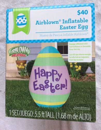 Airblown Inflatable Easter Egg Energy Efficient Led Self - 5.5 ft Tall