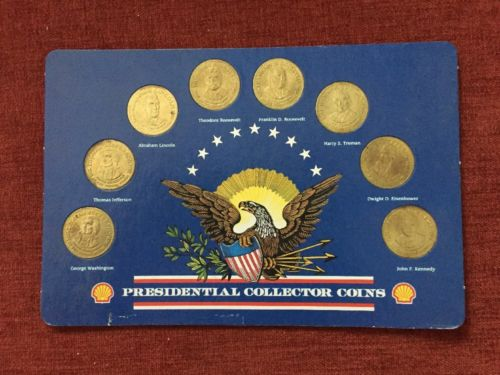 Shell Presidential Collector Coins Complete Set Presidents Commemorative Bronze