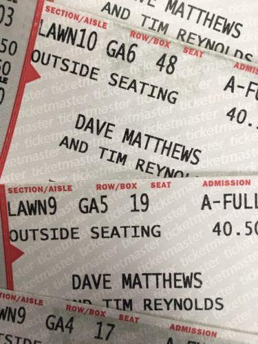 Dave Matthews Tickets - June 3, 2017 - Mann Center - Philadelphia, PA