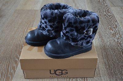 UGG Girls K Ellee Animal Print Boots Size 10 EUC