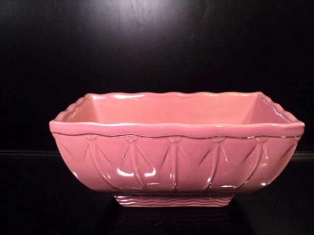 Mid Century Pink Art Deco Ceramic Pottery window ledge planter 701 USA