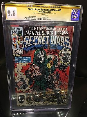 Secret Wars 10 cgc ss signed Zeck, Beatty and Shooter!