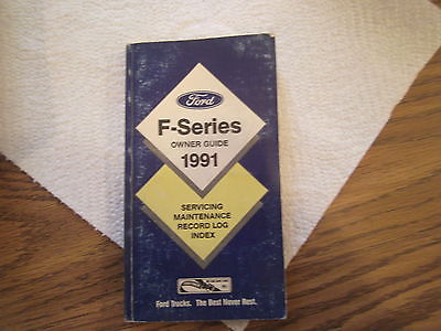 f-series owners guide for 1991