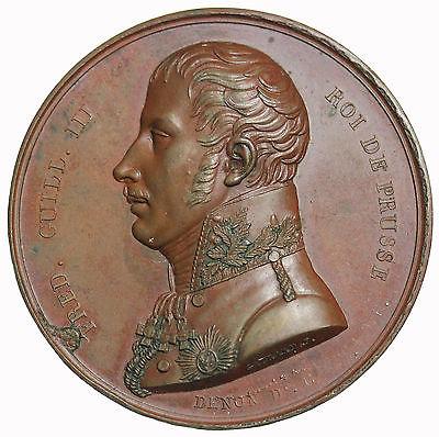 1814 France Napoleon I Bonaparte Friedrich Wilhelm Paris Mint Visit Medal Br1466