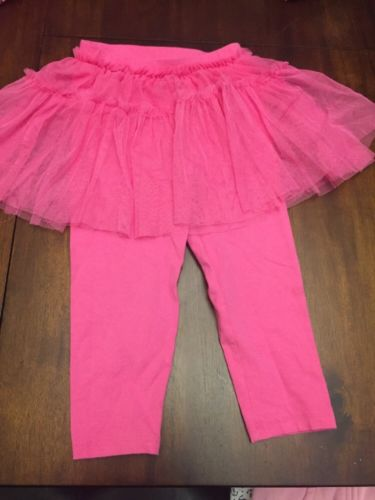 Toddler Girls Pink Legging with Tutu Skirt