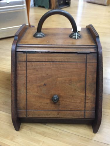 Antique Wooden Box With Metal Liner