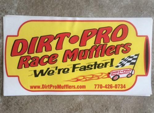 DIRT PRO RACE MUFFLERS Decal racing, Dirt Track, Hot Rod,Toolbox