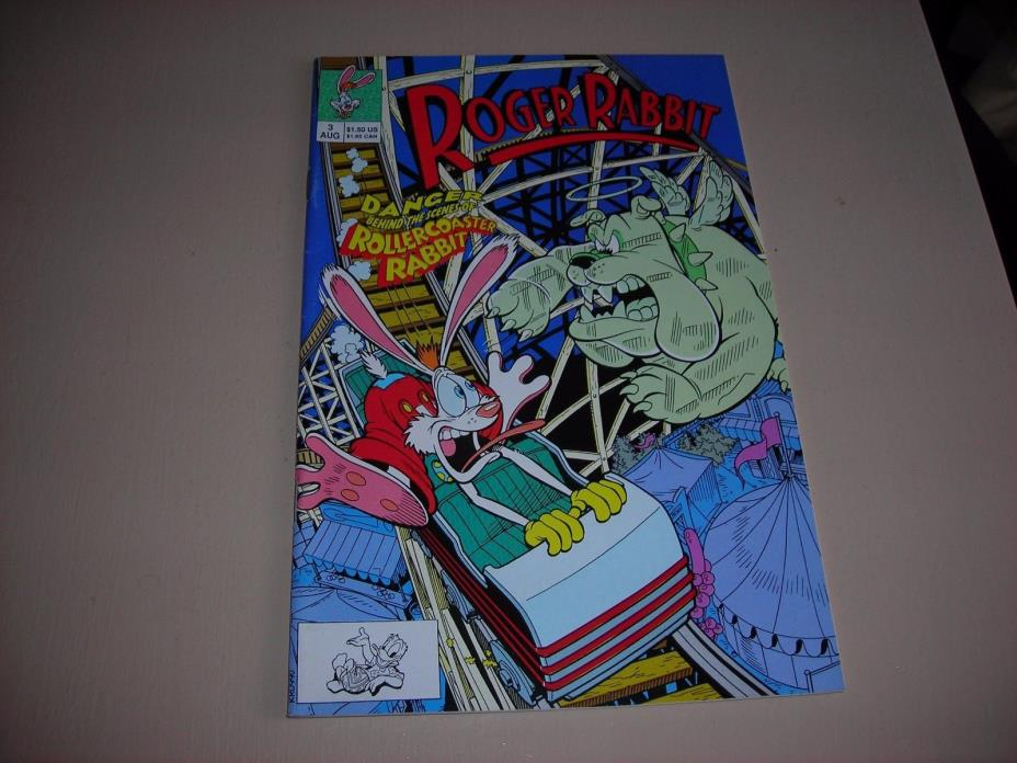 ROGER RABBIT 3 FVF DISNEY 1990 'ROLLER COASTER RIOT' + OTHER STORIES TOON HUMOR