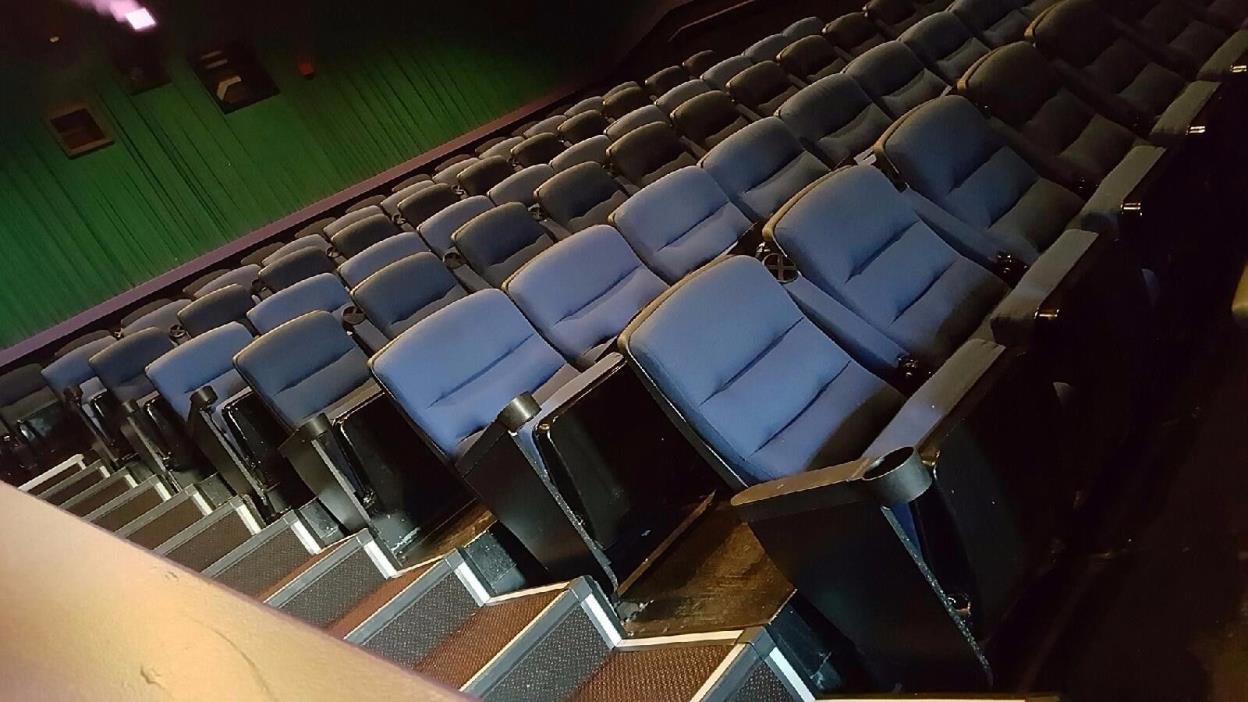 Lot of 700 AUDITORIUM THEATER SEATING Movie chairs cinema used seats blue