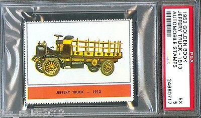 1952 Golden Book Automobile Stamps 1913 JEFFERY TRUCK Excellent PSA 5