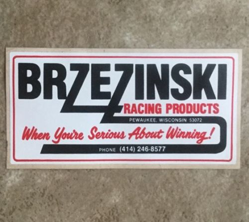 BRZEZINSKI Decal Drag car racing, stockcar, Dirt Track, Hot Rod,Toolbox