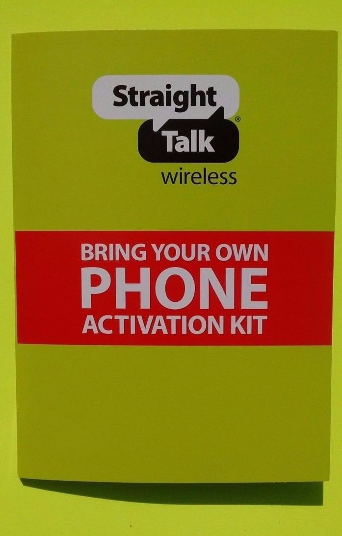 STRAIGHT TALK-4G-LTE-SIM-Card-Samsung Galaxy S7 S6 AT&T activation kit