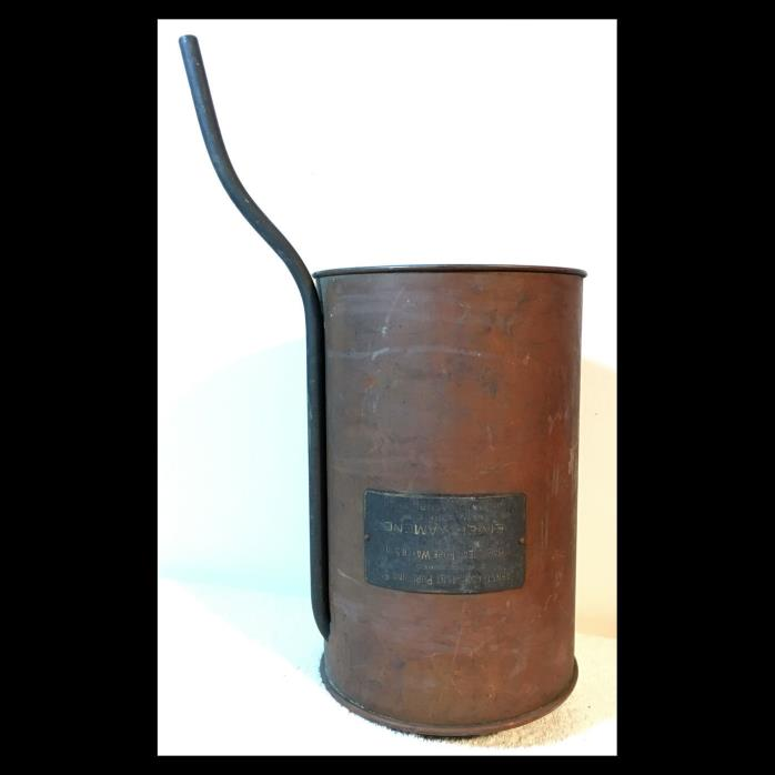 Antique Copper BARNSTEAD PURIFYING STILL Funnel Apparatus Moonshine Prohibition