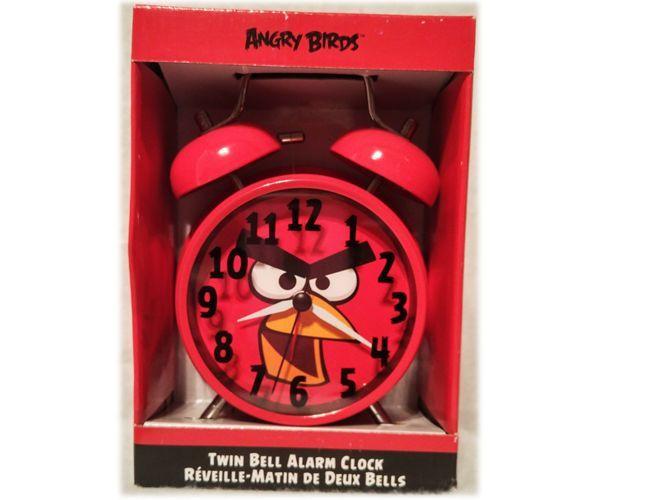 JAZZITEE KID'S RED ANGRY BIRD TWIN BELL ALARM CLOCK