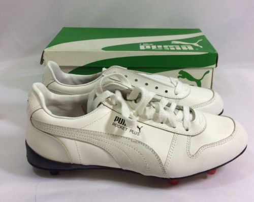 Vintage Puma Rocket Plus Shoes Soccer Cleats 10.5 Deadstock NIB White