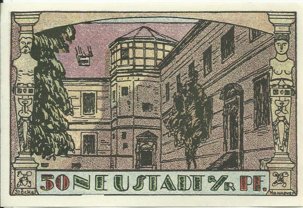 Germany, Neustadt 50 Pfennig 1921 Notgeld UNC MINT  (168)