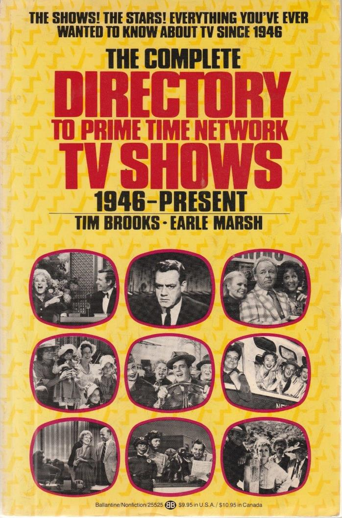 COMPLETE DIRECTORY TO PRIME TIME NETWORK TV SHOWS 1946-1978 SC  Brooks & Marsh