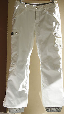 Burton Dry Ride Fly Snowboard Pant Size Small Yellowish White Leg Vents Pass Pkt