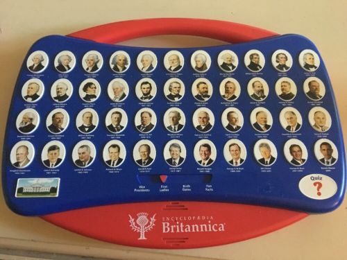 Fantastic Enclopedua Britannica Presidential Quiz Electronic Toy. Must See!