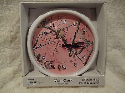 NEW REALTREE PINK CAMO WALL CLOCK