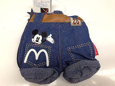 Disney Denim Pants Shaped Mini Pouch Zipper Case / Mickey Mouse