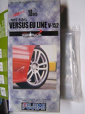Fujimi 1/24  18 inch Versus EU Line V-152  Wheel & Tire Set