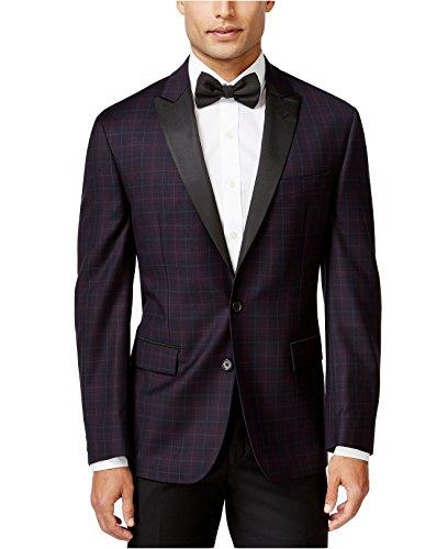 Ryan Seacrest Distinction Men's Slim-Fit Plaid Evening Jacket