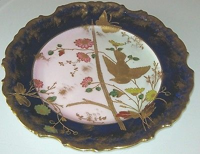 STUNNING ANTIQUE ADDERLEY HANDPAINTED PORCELAIN CABINET PLATE