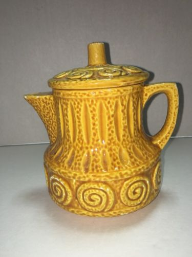 Vintage Teapot, Yellow