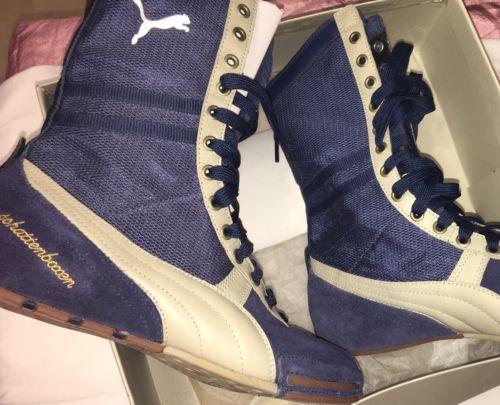 Vintage Puma Schattenboxen Suede Blue. Mens 9 Women's 10.5 Boxing Trendy